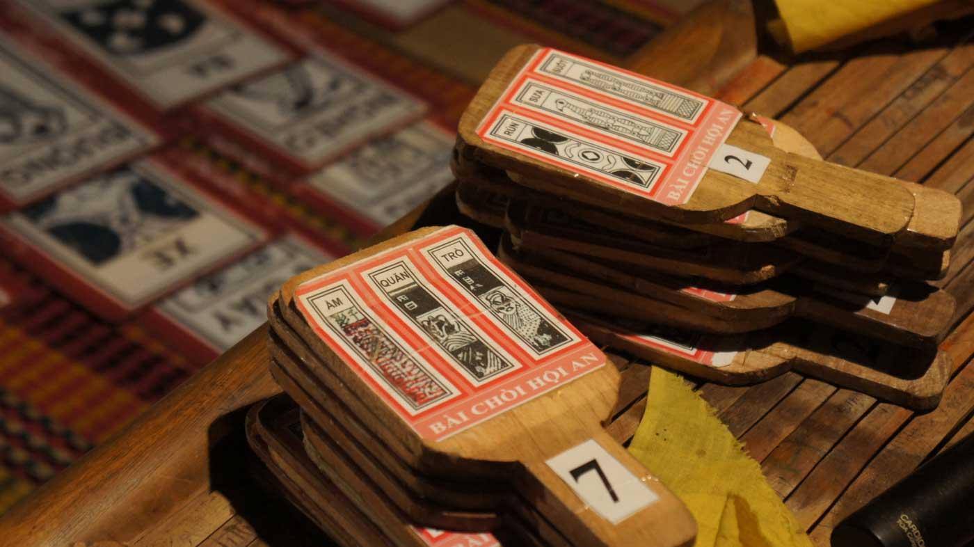 Thẻ bài chòi ở Hội An