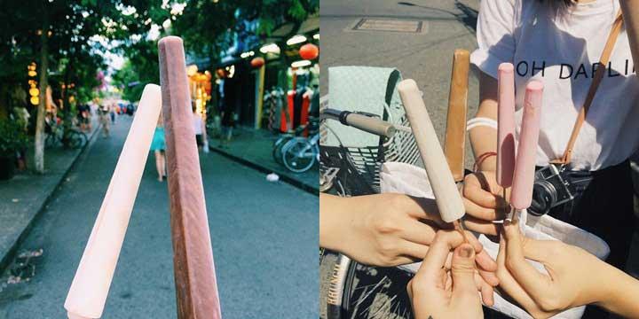 Kem ống món ăn vặt đường phố ngon tại Hội An