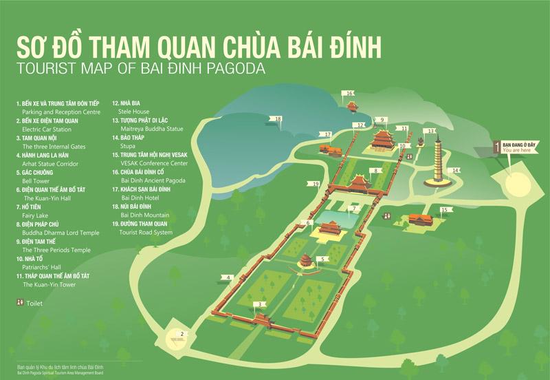 sơ đồ chùa Bái Đính