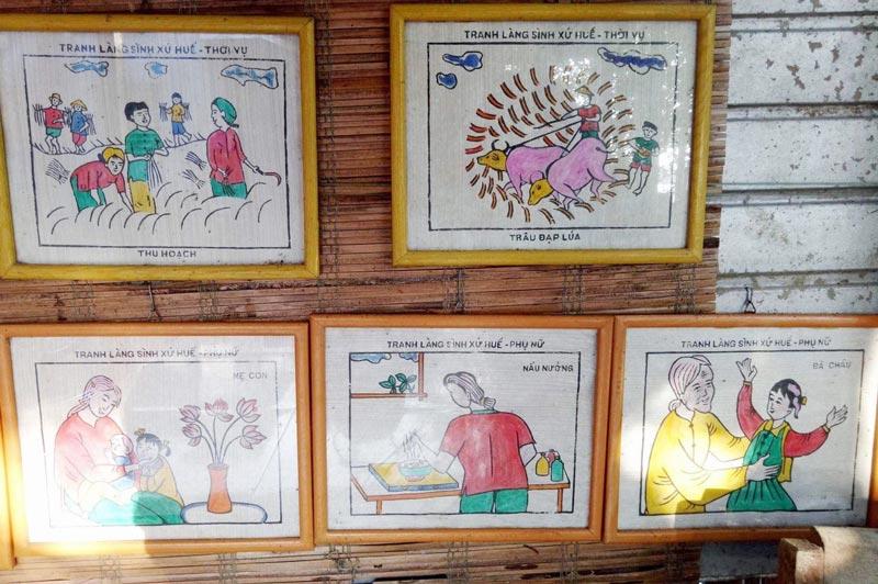 làng tranh làng sình ở Huế