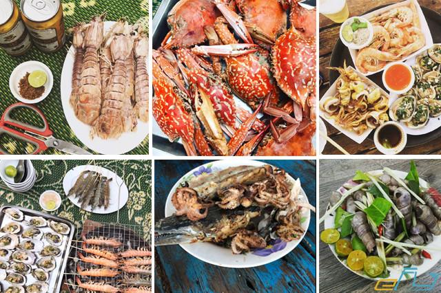 Review kinh nghiệm du lịch Bãi Đông Thanh Hóa: hải sản bãi đông