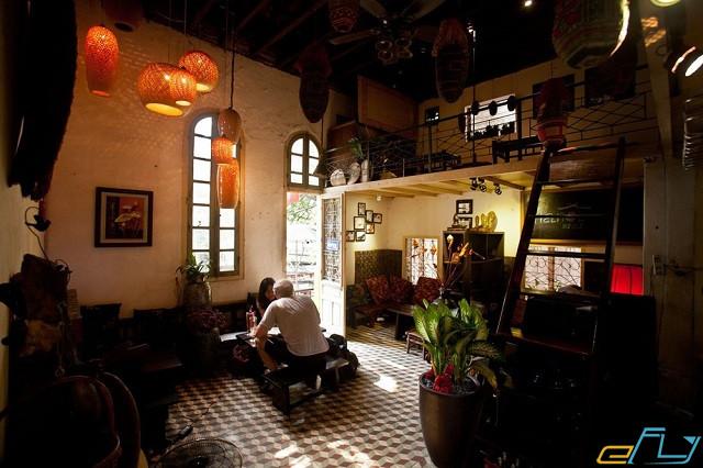 quán cà phê cổ Hà Nội: The Hanoi House Cafe