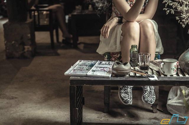 quán cà phê cổ Hà Nội:  Cafe nhà sàn