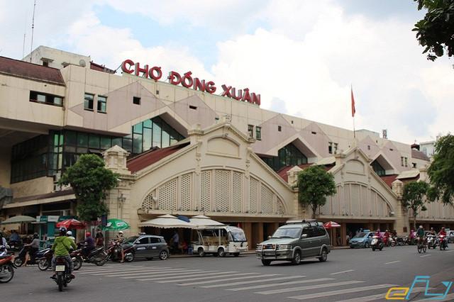 điểm du lịch mua sắm yêu thích chợ đồng xuân hà nội